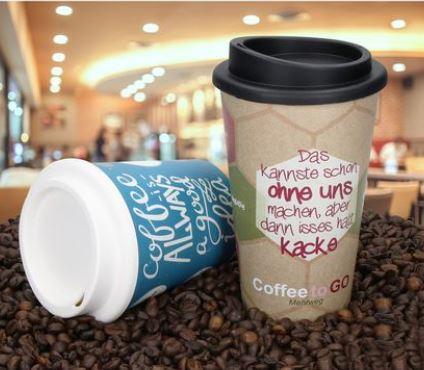 Toller Kaffeebecher mit Imoulsveredelung