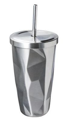 Genialer Trinkbecher mit Strohhaöm aus Edelstahl