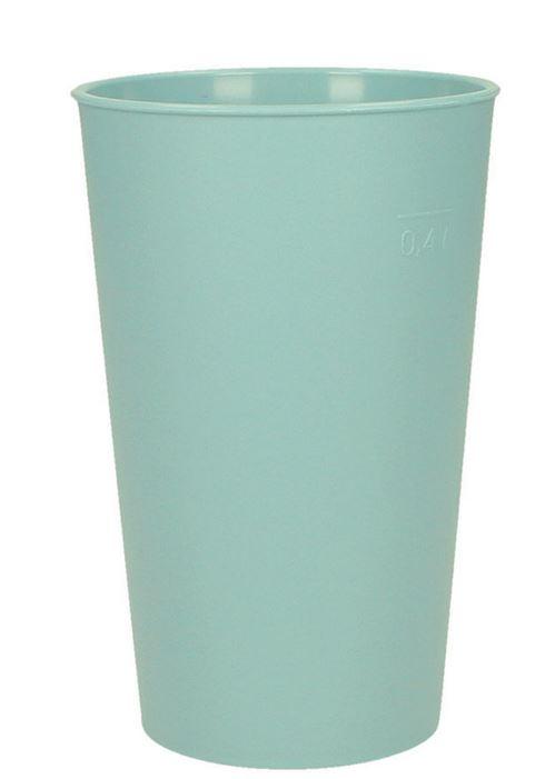 bunte Mehrweg- Becher stapelbar 400 ml COM-FOUR/® 4x Stabile Trinkbecher in verschiedenen Farben